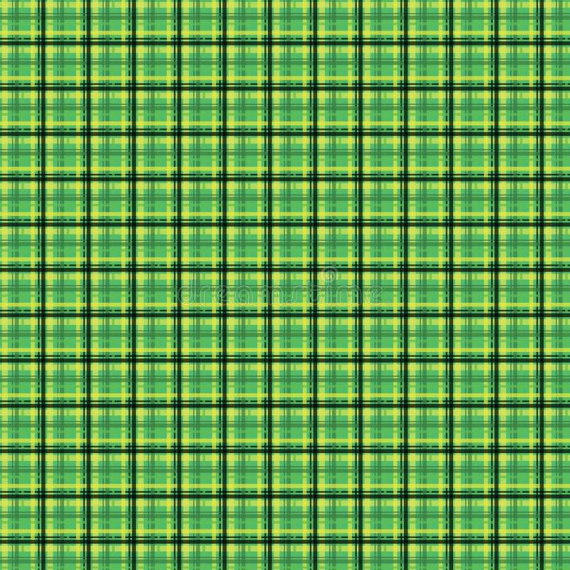 Textura incons?til de la tela del control de la tela escocesa irlandesa verde de la tela Ilustraci?n del vector libre illustration