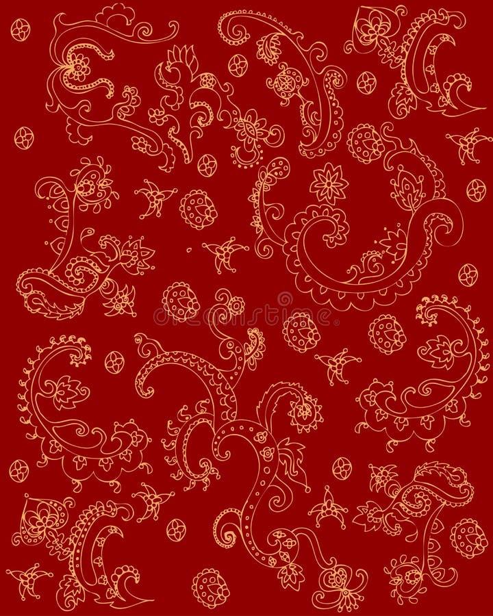 Textura indiana ilustração do vetor