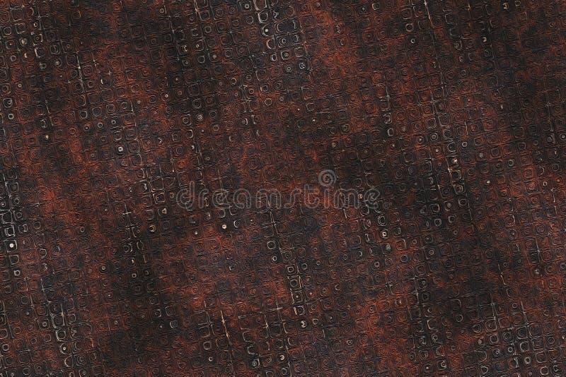 Textura industrial da placa de cobre do vintage Abstrac metálico do ferro ilustração royalty free