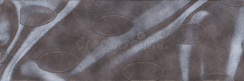Textura industrial da placa de cobre do vintage Abstrac metálico do ferro ilustração stock