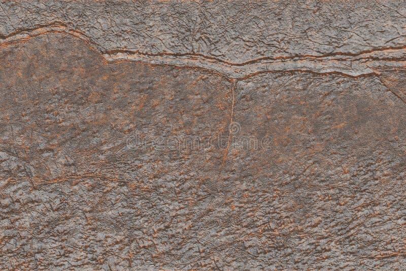 Textura industrial da placa de cobre do vintage Projeto abstrato met?lico do ferro foto de stock