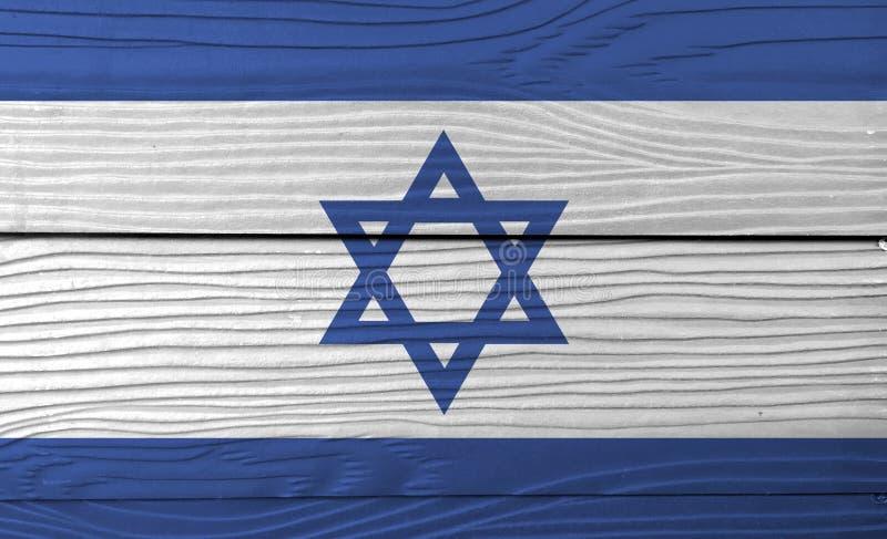 Textura israelí de la bandera del Grunge, hexagram azul en un fondo blanco, entre dos rayas azules fotos de archivo