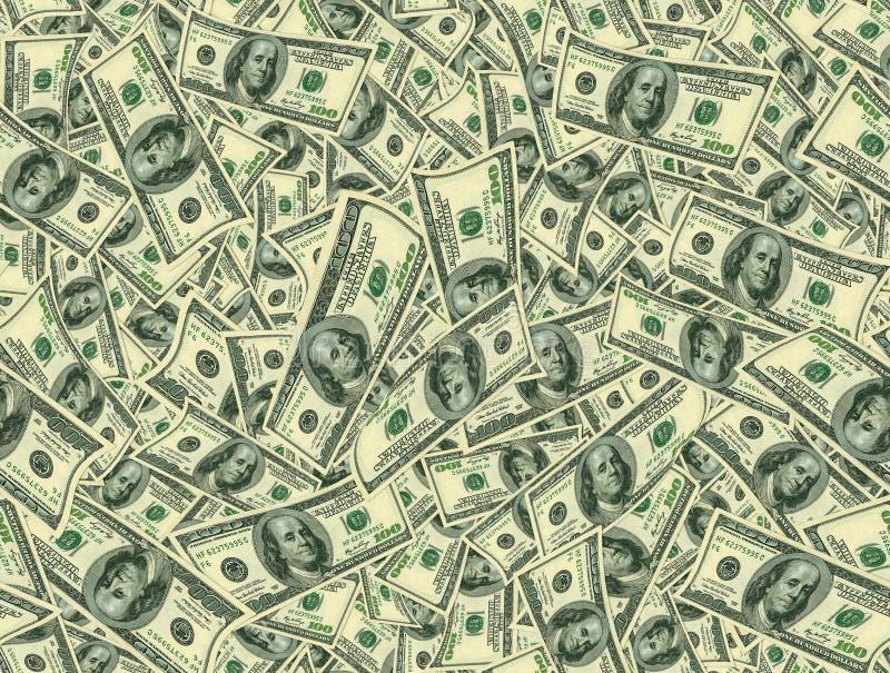 Textura Jointless dos dólares como um símbolo do lucro imagens de stock