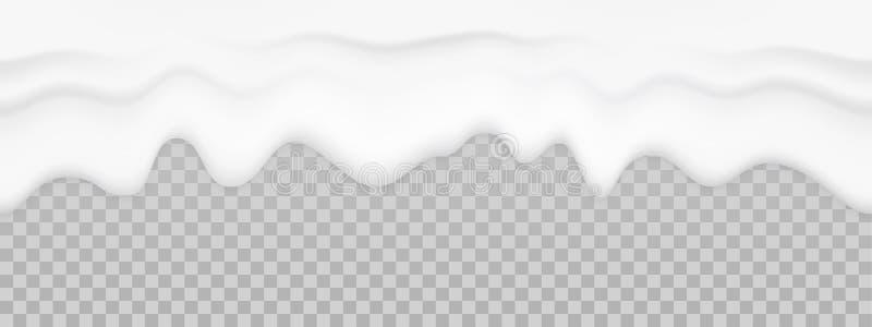 Textura líquida de la leche Fondo inconsútil de la crema del goteo del yogur del vector stock de ilustración