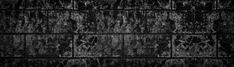 Textura lamentable negra amplia del muro de cemento Vieja superficie agrietada oscura del cemento Fondo panorámico del Grunge imágenes de archivo libres de regalías