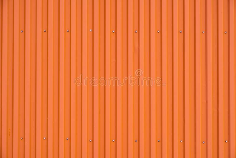 Textura listrada e fundo da fileira alaranjada do recipiente fotos de stock royalty free