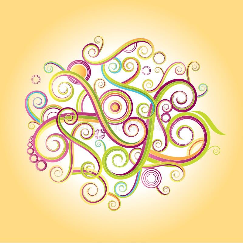 Textura loca del color stock de ilustración