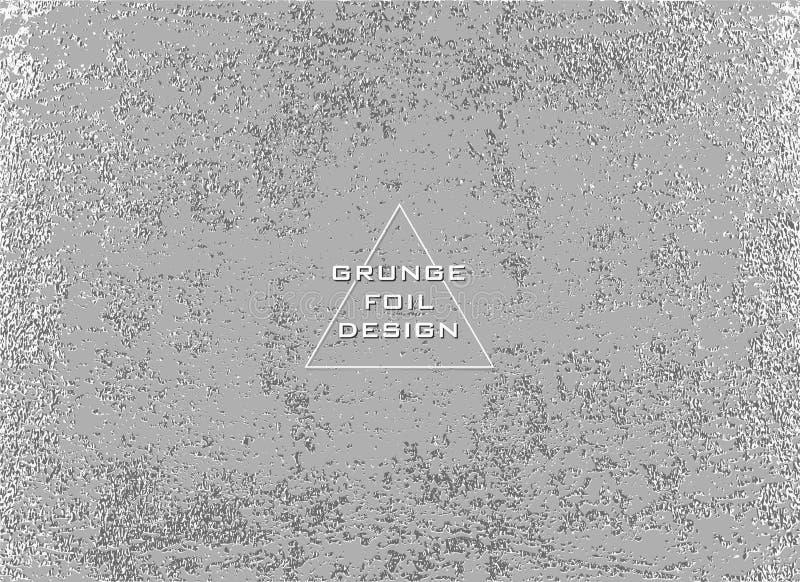 Textura lustrosa de prata Teste padrão metálico Fundo argento do Grunge ilustração do vetor