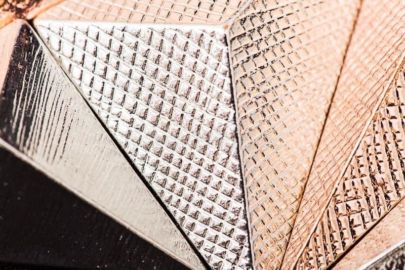 Textura macra de la pirámide metálica foto de archivo