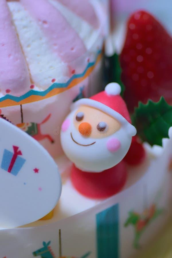 Textura macra de la torta grande de la Navidad foto de archivo