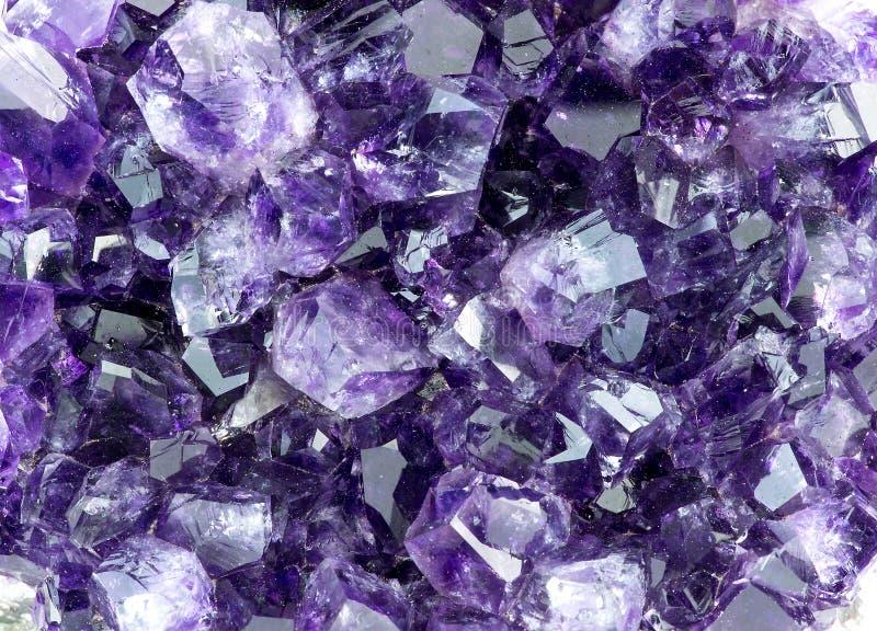 Textura macra del fondo de la amatista púrpura imagen de archivo libre de regalías
