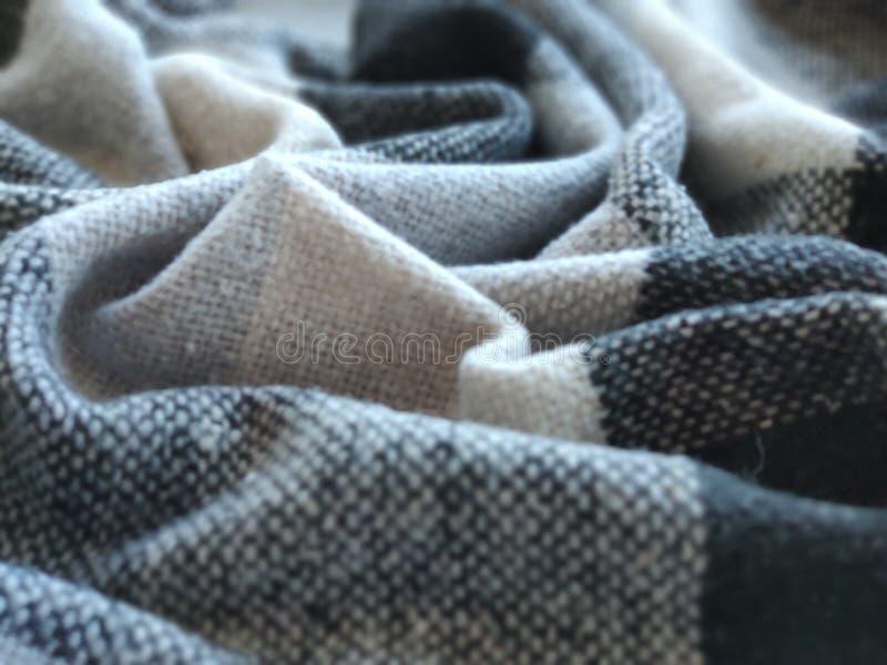 Textura macra del primer de la tela de algodón hecha punto fotografía de archivo libre de regalías