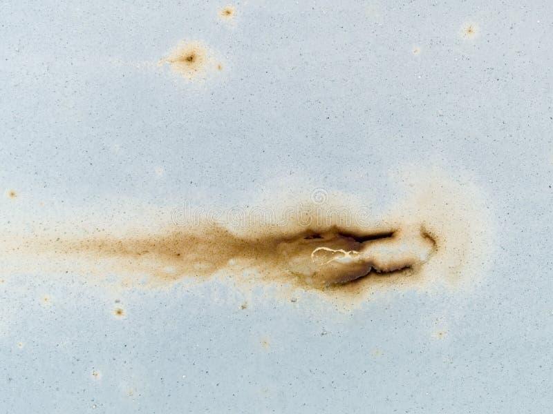 Textura macra - metal - pintura oxidada de la peladura foto de archivo
