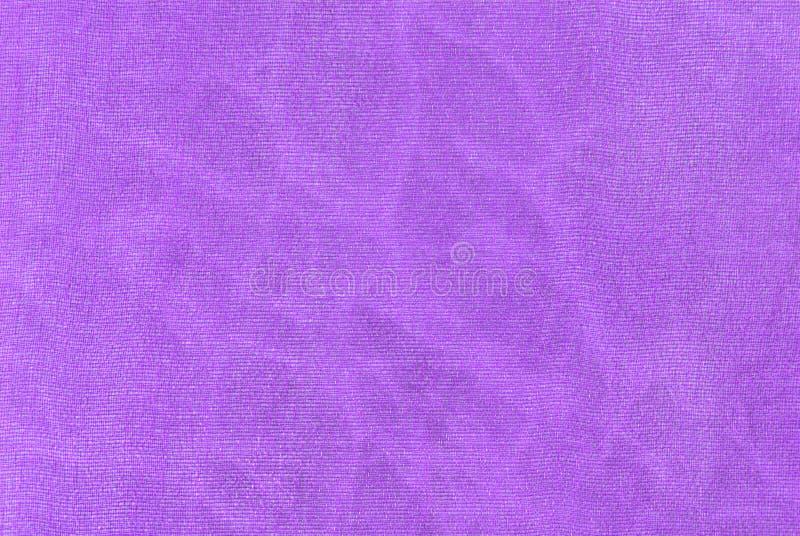 Textura macro da tela de organza roxo imagem de stock