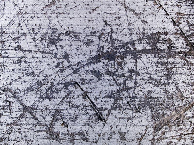Textura macro - metal - riscada imagem de stock royalty free