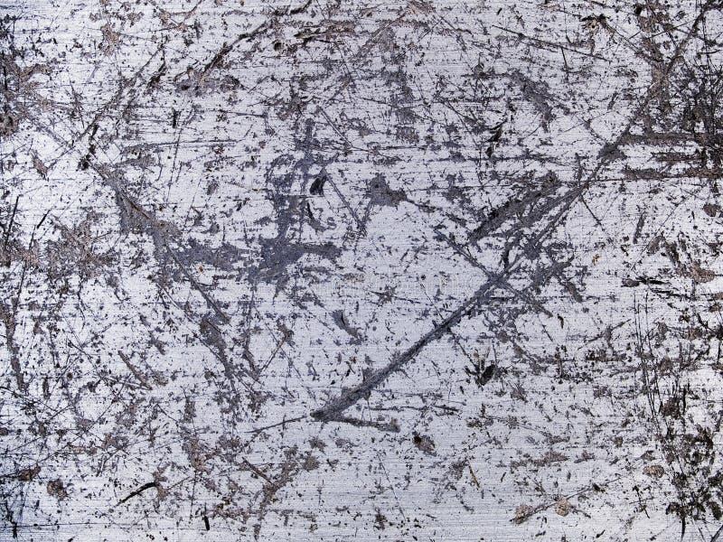 Textura macro - metal - riscada imagem de stock