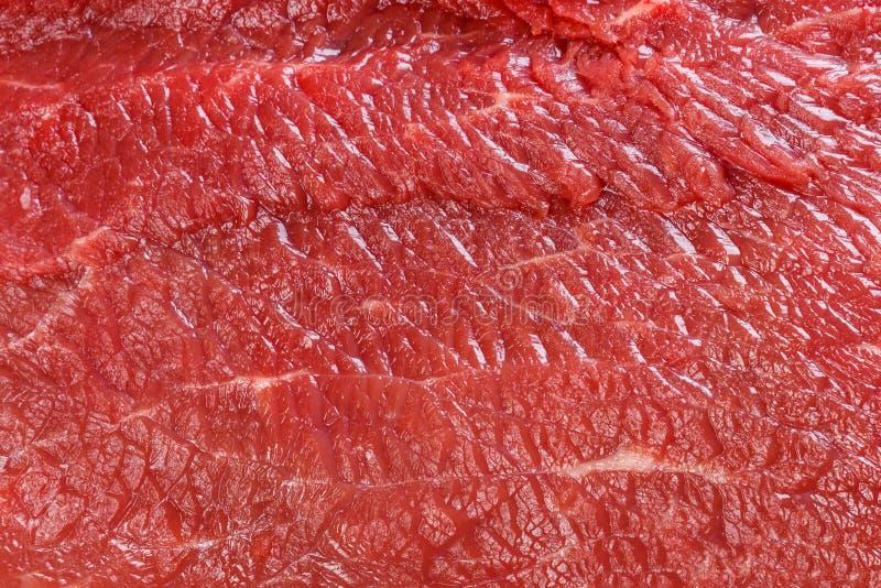 Textura macro ou fundo da carne vermelha crua da carne foto de stock royalty free