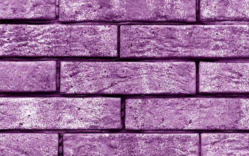 Textura magenta da parede de tijolo da cor imagem de stock