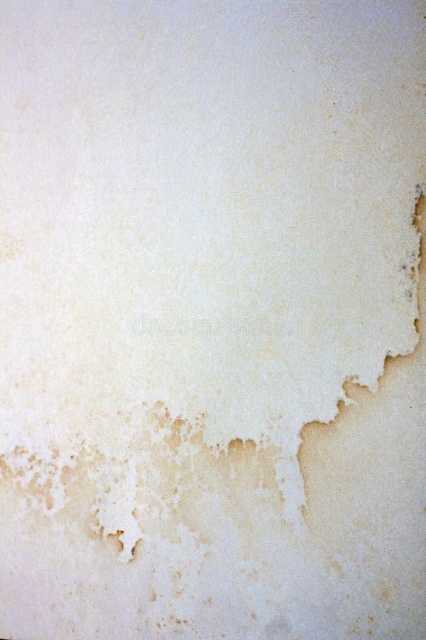 Textura manchada água da página do livro fotos de stock