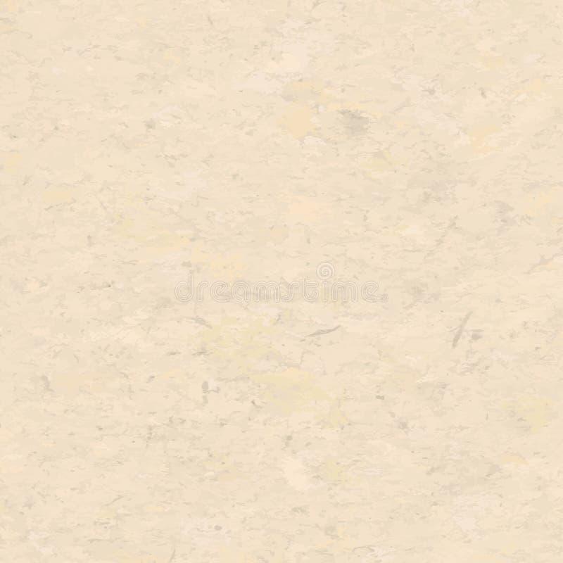 Textura manchada reciclada áspera del papel de nota de Brown, fondo para el texto Ilustración del vector ilustración del vector