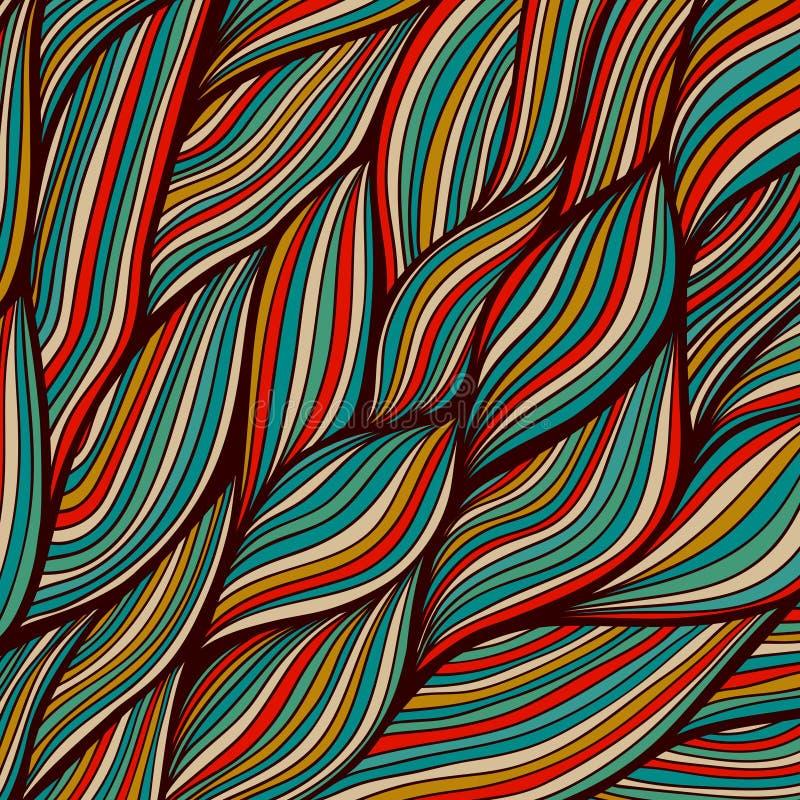 Textura a mano de las ondas del vector, fondo ondulado Templ del contexto stock de ilustración