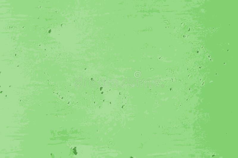 Textura marcado verde de uma parede do cimento na rua ilustração stock