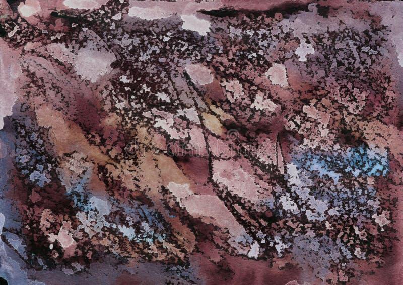 Textura marmoreada da aquarela, feito a m?o fotos de stock