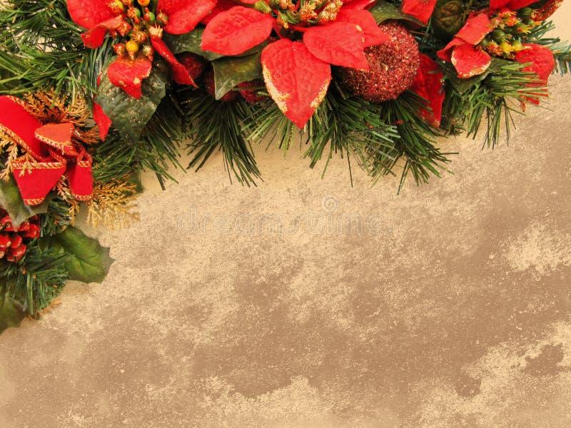 Textura marrón clara de la Navidad del Grunge ilustración del vector