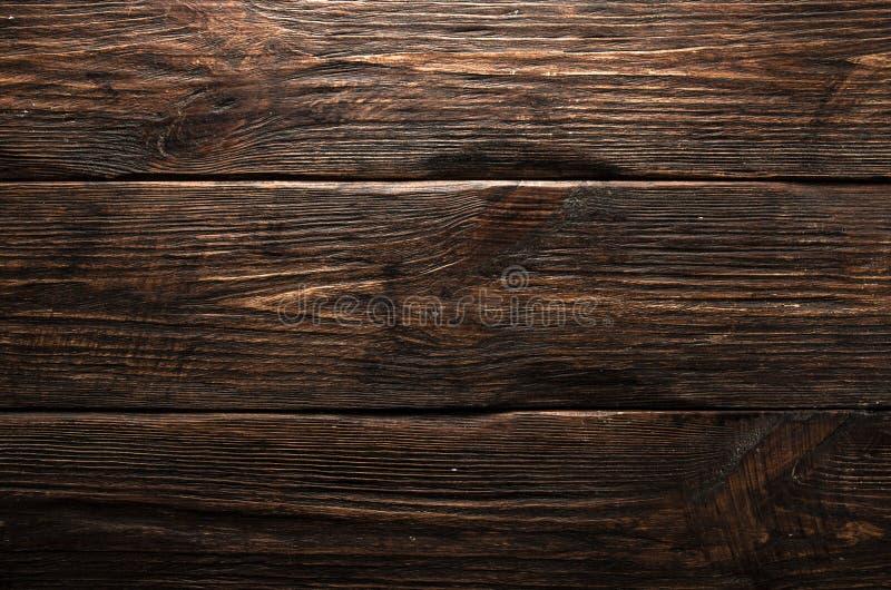 Textura marrón de madera del grano, vista superior del fondo de madera de la pared de la tabla de madera foto de archivo libre de regalías