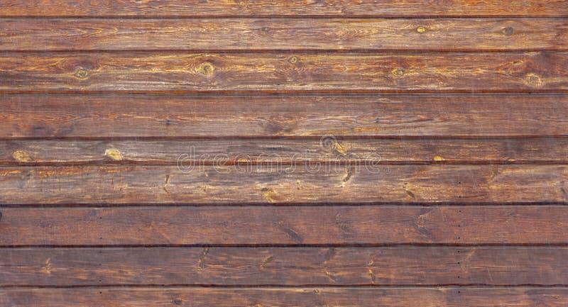 Textura marrón de madera del grano, vista superior del fondo de madera de la pared de la tabla de madera imagen de archivo libre de regalías