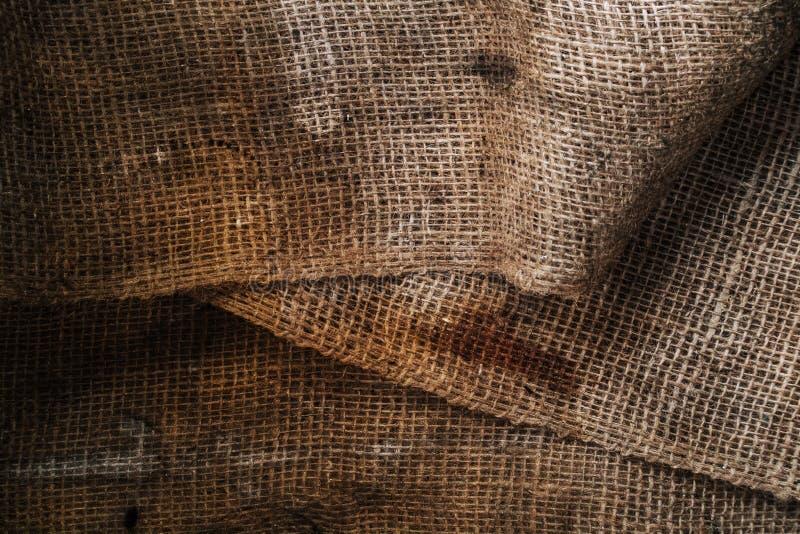 Textura marrón del grunge del yute foto de archivo libre de regalías