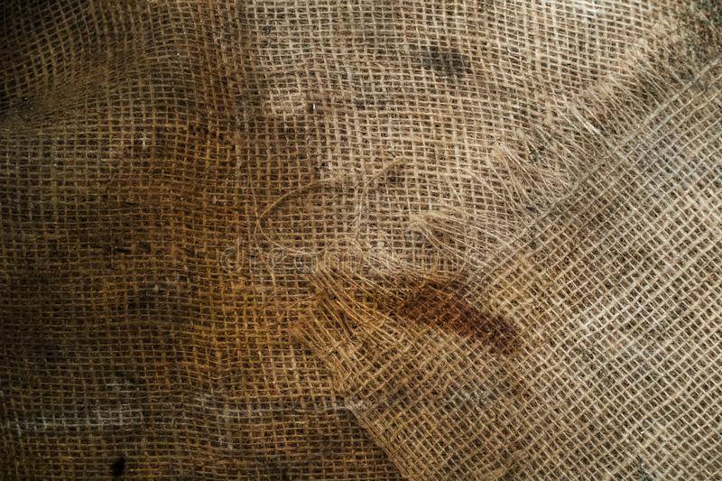 Textura marrón del grunge del yute fotografía de archivo