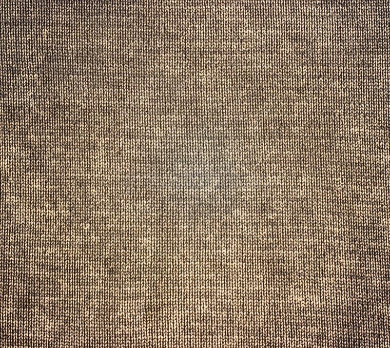 Textura marrón hecha punto del grunge de la lona como fondo imágenes de archivo libres de regalías