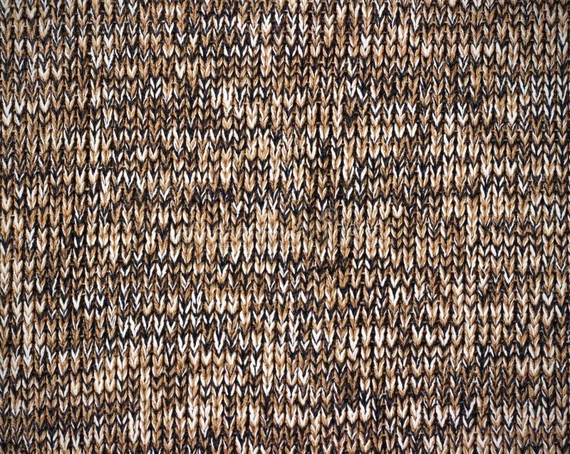 Textura marrón hecha punto del grunge de la lona como fondo fotos de archivo libres de regalías