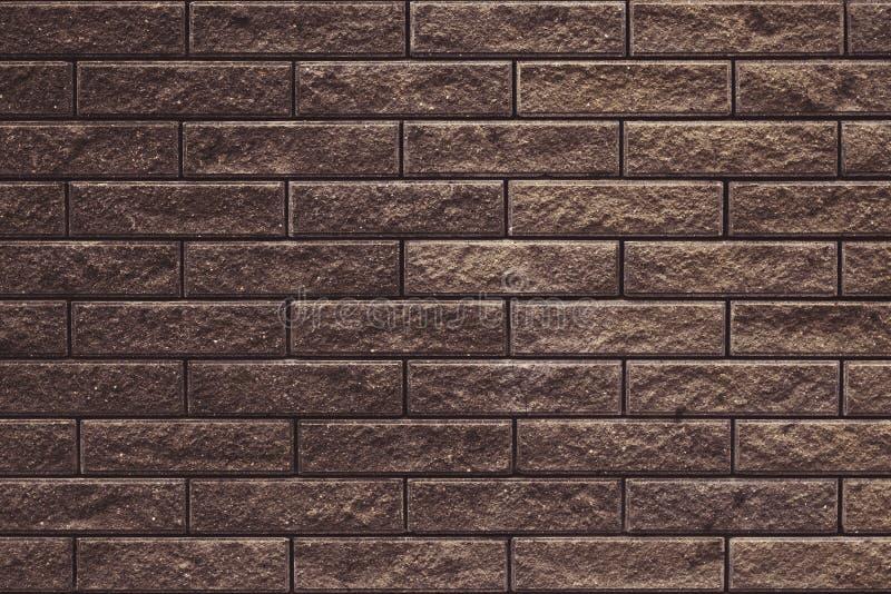 Textura marrom abstrata da parede de tijolo para o projeto do papel de parede Fundo do grunge da parede de tijolo Textura do cime imagens de stock royalty free
