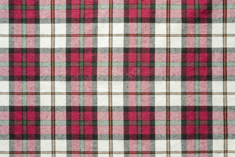 Textura material de la tela escocesa foto de archivo