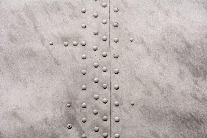 Textura metálica com rebites imagem de stock