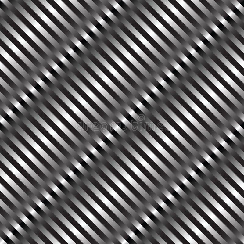 textura metálica das ondas ilustração stock