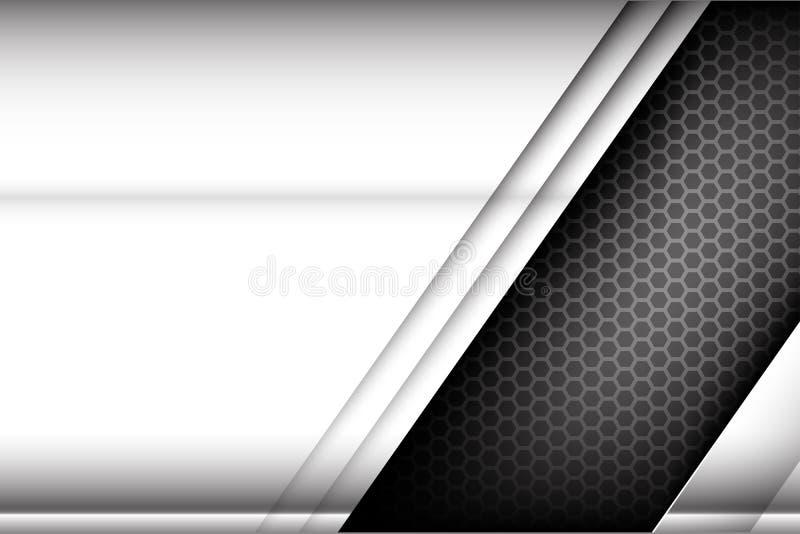 Textura metálica del fondo del elemento del acero y del panal ilustración del vector
