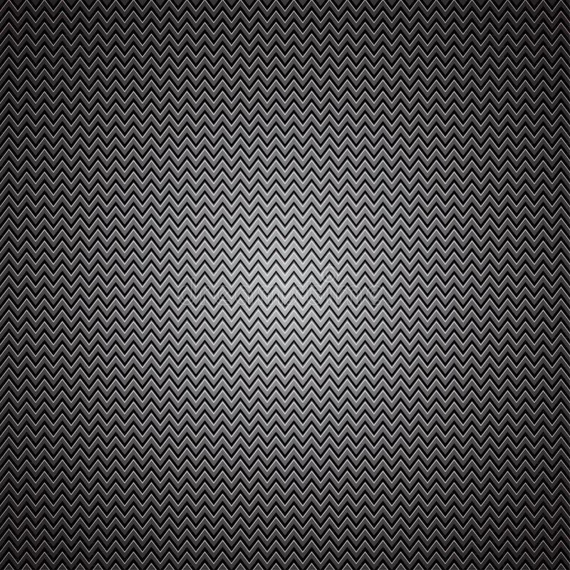 Textura metálica do carbono ilustração royalty free
