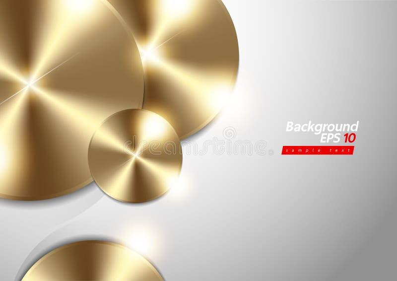 Textura metálica do metal do fundo do ouro ilustração royalty free