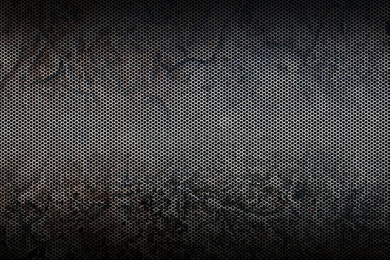 Textura metálica preta do fundo da malha ilustração royalty free