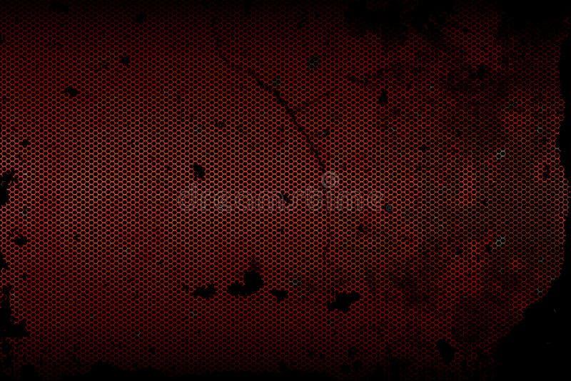 Textura metálica preta do fundo da malha ilustração stock