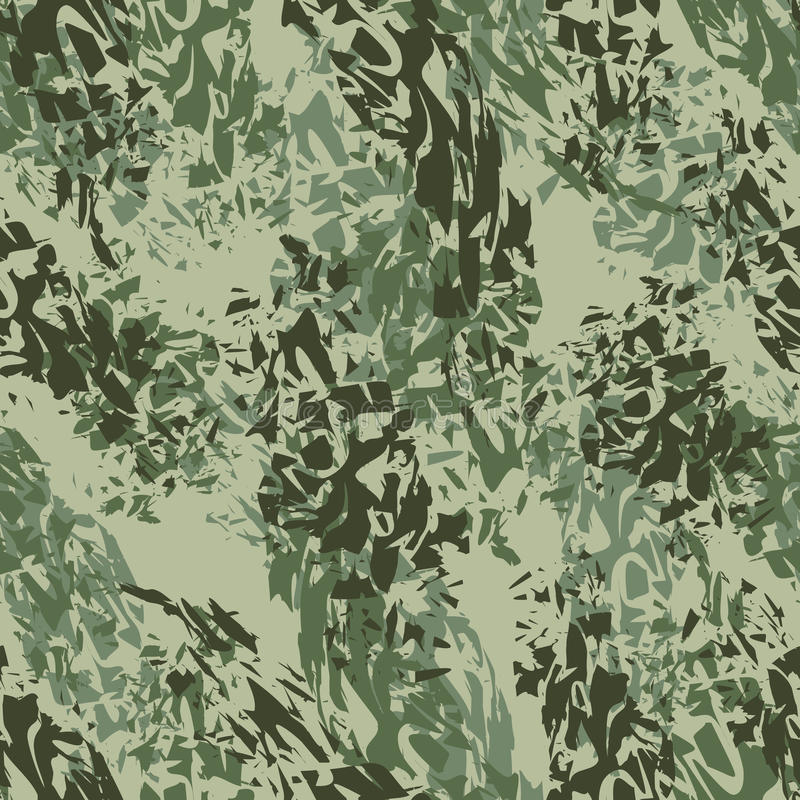 Textura militar Teste padrão sem emenda do exército Ornament para os soldados c ilustração stock