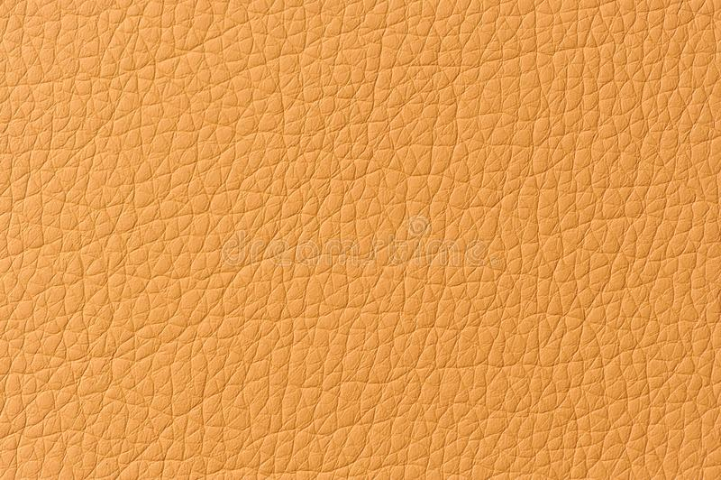 Textura modelada naranja del cuero artificial foto de archivo libre de regalías