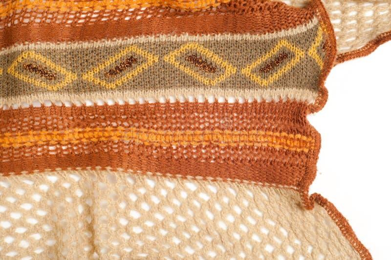 Textura, modelo Fondo La bufanda de lana de las mujeres Nueva moda imagen de archivo