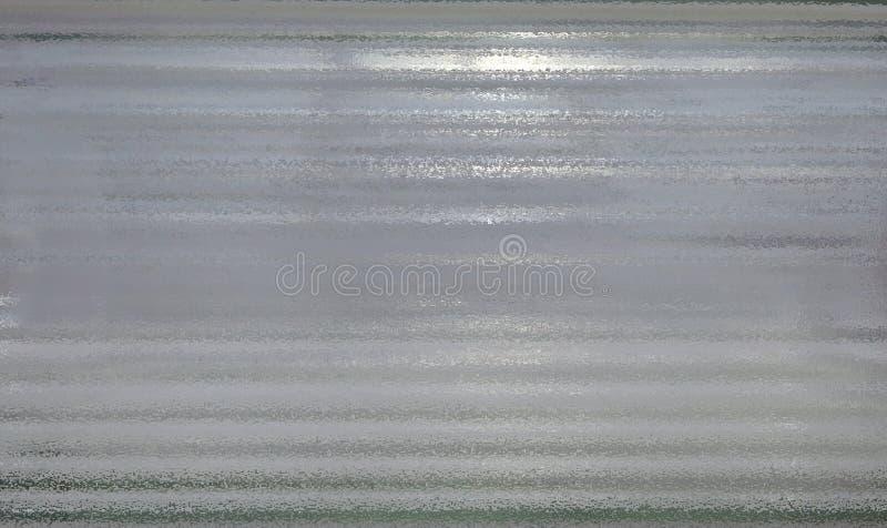 Textura molhada do vidro acanelado fotos de stock