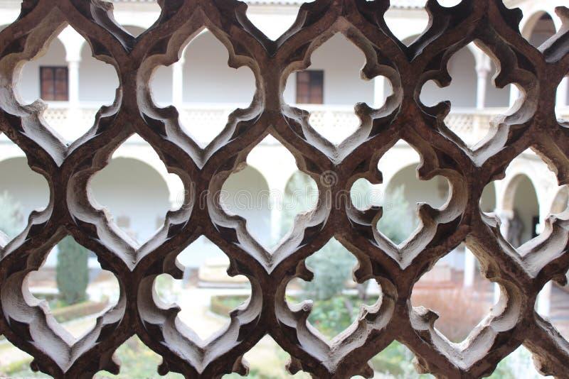 Textura mudéjar Toledo foto de archivo