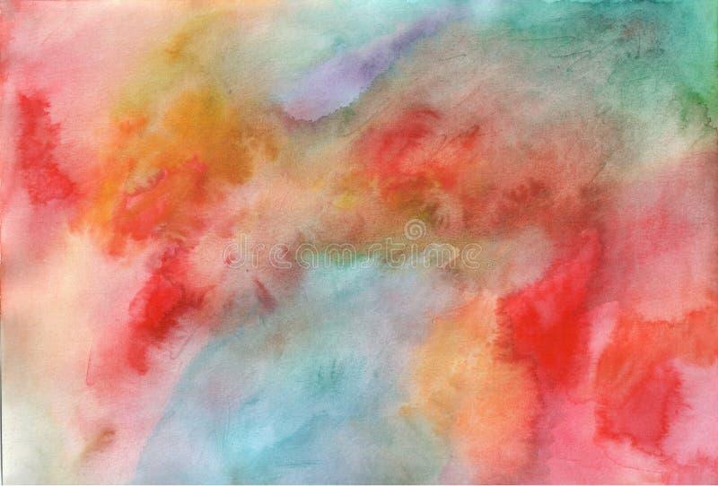 Textura multicolora de la acuarela Modelo exhausto de la acuarela de la mano para el diseño Contexto art?stico de Grunge Ilustrac foto de archivo