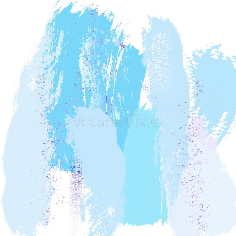 Textura na moda de mármore azul do sumário com a decoração violeta do respingo do brilho Fundo chique na moda feito no vetor para ilustração do vetor
